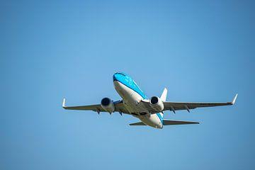 KLM Boeing 737-700, KL2020, registratienummer PH BGG. Naam Koningseider van Gert Hilbink