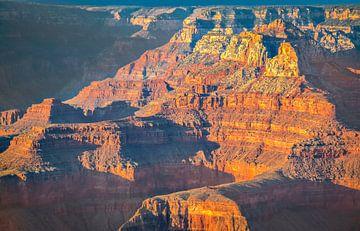 Goldenen Schimmer über den Grand Canyon, USA von Rietje Bulthuis