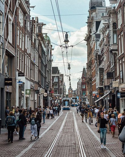 Shopping streets in Amsterdam