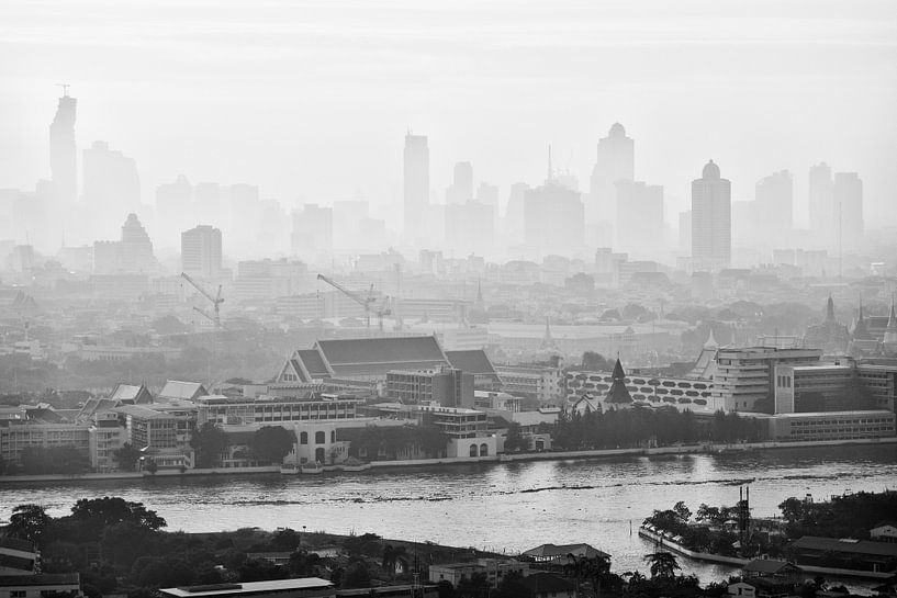 Een vroege ochtend in Bangkok van Jelle Dobma