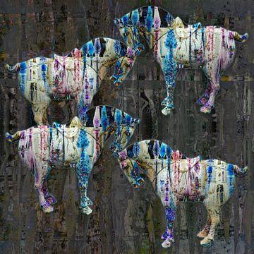 Chinese paarden van Lida Bruinen