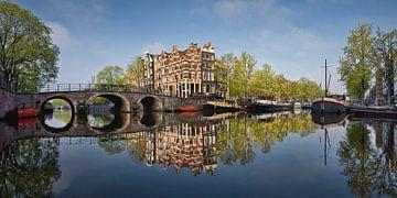 Grachtenhäuser an der Brouwersgracht in Amsterdam von Frans Lemmens