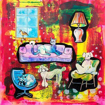 Huisdierenleven (home story 3) van Ariadna de Raadt