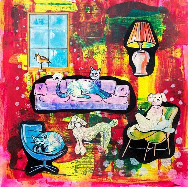 La vie des animaux de compagnie ( histoire d'une maison 3) sur Ariadna de Raadt-Goldberg