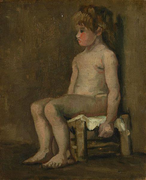Akt eines sitzenden kleinen Mädchens, Vincent van Gogh von Meesterlijcke Meesters