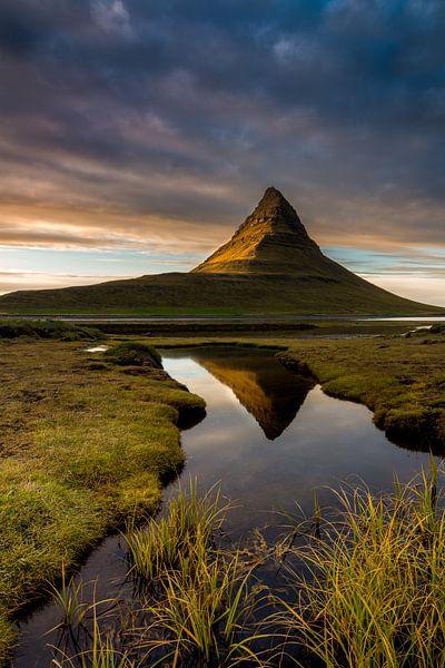 Landschap Kirkjufell IJsland