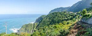 Uitzicht vanaf de noordkust van Madeira van Bram van der Meer