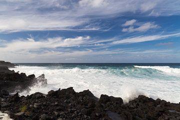 Kust van Faial, Azoren, Portugal von