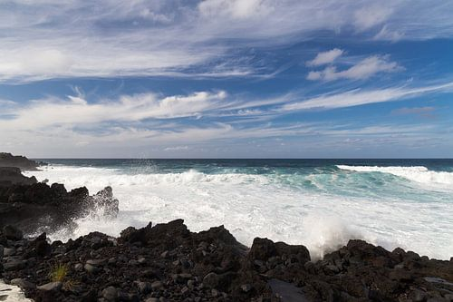 Kust van Faial, Azoren, Portugal van