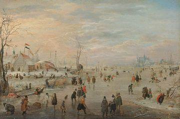 Genieten van het ijs, Hendrick Avercamp