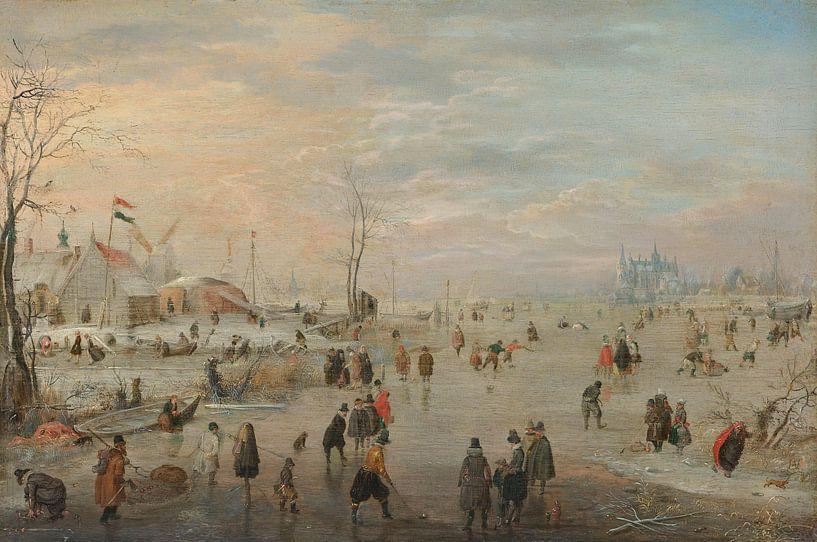 Genieten van het ijs, Hendrick Avercamp van Meesterlijcke Meesters