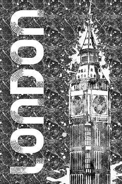Graphic Art LONDON Big Ben  von Melanie Viola