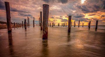 Sunset Palendorp van Peter Heins