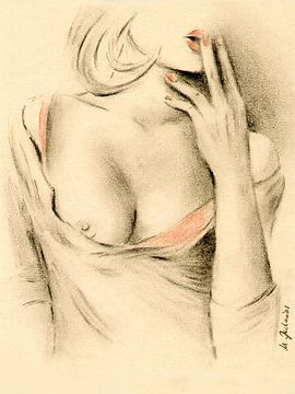 Aphrodite de la modernité - dessins érotiques sur