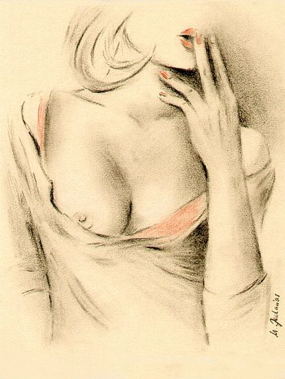 Aphrodite van de moderniteit - erotische tekeningen