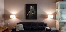 Klantfoto: Koningin Elizabeth van Bourbon, op canvas