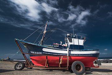 Vissersboot in La Santa, Lanzarote-Spanje van