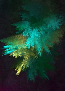 Fraktale abstrakte Kunst Wald 1 #Fraktale #Abstrakt von JBJart Justyna Jaszke