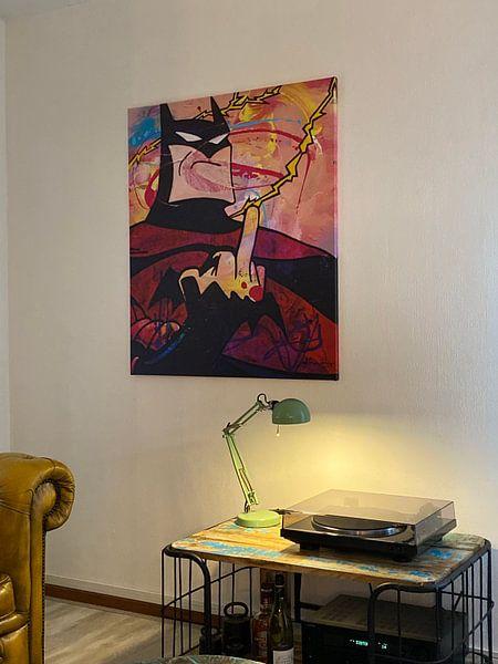Kundenfoto: Angry Batman von Frans Mandigers, auf leinwand