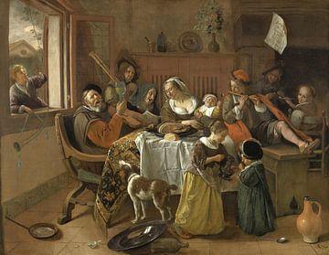 Die fröhliche Familie - Jan Havickszoon Steen