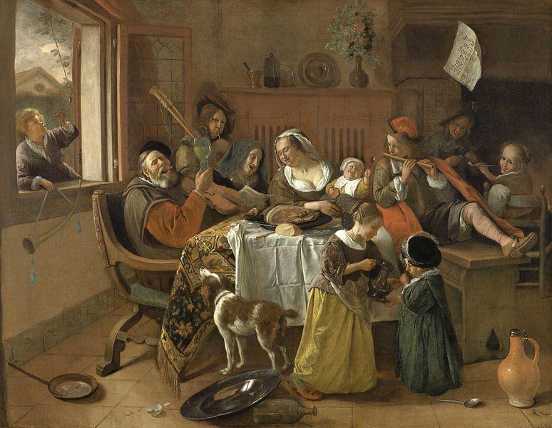 Die fröhliche Familie - Jan Havickszoon Steen von Rebel Ontwerp