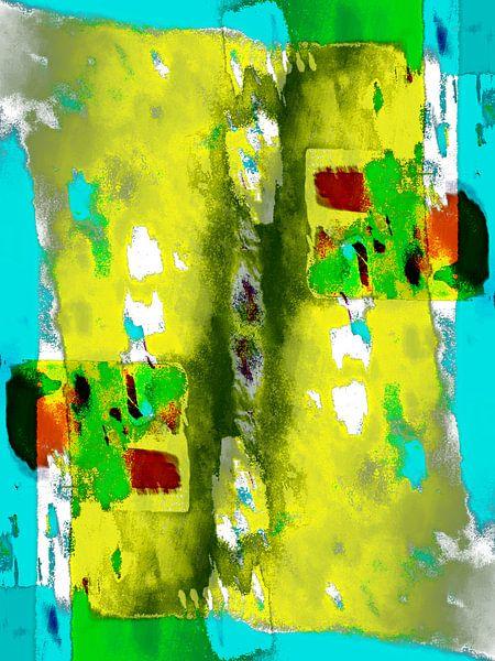 Abstract art in yellow van Gabi Hampe