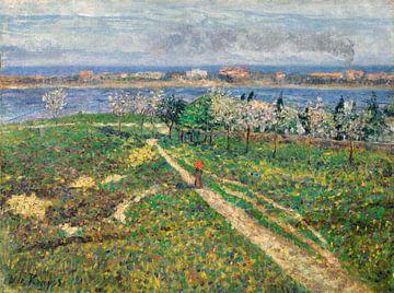 Darío de Regoyos~Amandelbäume in Blüte