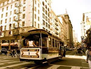 Cable car, San Francisco, Californie