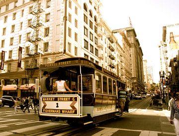 Cable car, San Francisco, Californie van Samantha Phung
