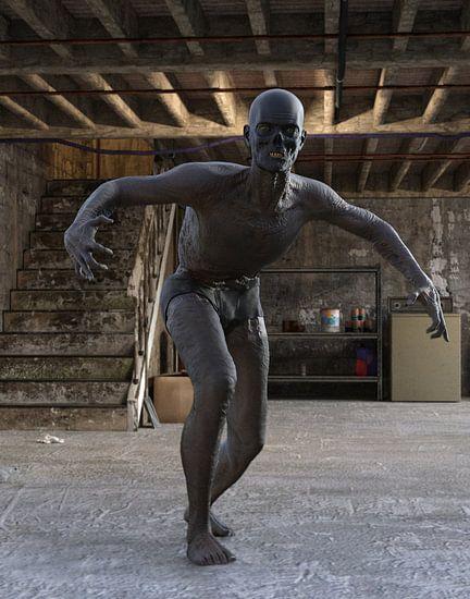 zombie in cellar