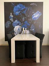Klantfoto: Still Life - Delft Blue van Marja van den Hurk, als naadloos behang