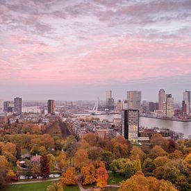 Rotterdam: la ville, le ciel et le parc sur Frans Blok