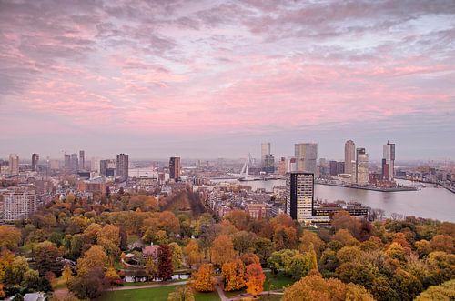 Rotterdam: la ville, le ciel et le parc sur