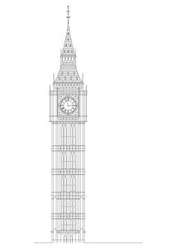 Big Ben London (Elisabeth-Uhrturm) von Marcel Kerdijk