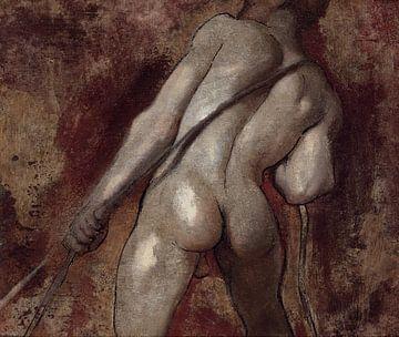 Nackte männliche Figur beim Seilziehen, William Etty von Atelier Liesjes