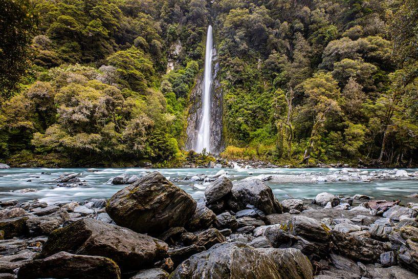 Waterval NIeuw Zeeland van Jurgen Buijsse
