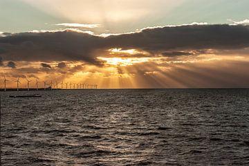 Avondlicht over het IJsselmeer