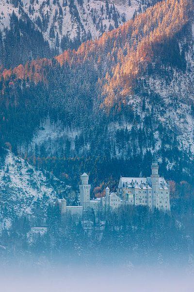 Kasteel Neuschwanstein, Allgäu, Beieren, Duitsland van Henk Meijer Photography