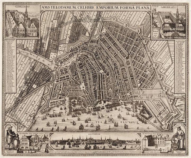 Amsterdam, Karte 1643 von Atelier Liesjes