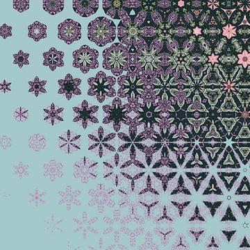 abstracte geometrische achtergrond van Ariadna de Raadt