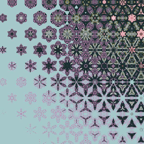 abstrakter geometrischer Hintergrund von Ariadna de Raadt-Goldberg