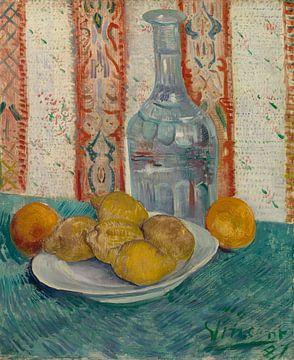 Stilleven met karaf en citroenen op een bord, Vincent van Gogh van