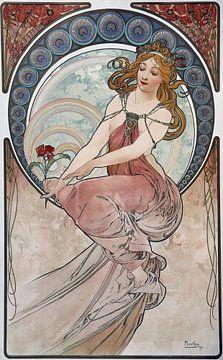 Schilderij van Alphonse Mucha, 1898