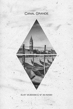 Koordinaten Venetië Kanaal Grande van Melanie Viola