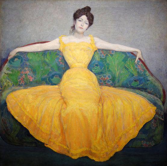 Dame im gelben Kleid, Max Kurzweil von Meesterlijcke Meesters