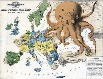 Humor met een kaart van Europa, 1877 van Atelier Liesjes