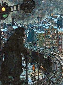 Arbeiterstadt - Hans Baluschek, 1920 von Atelier Liesjes