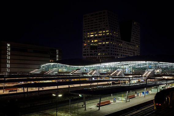 Station Utrecht bij nacht van Jan vd Knaap