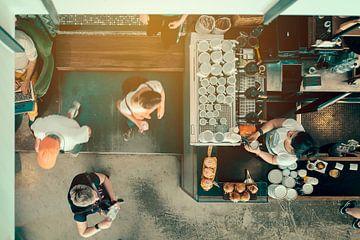 Besucher im Cafe von Studio Reyneveld