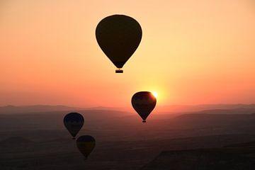 Sonnenaufgang im Ballon von Renzo de Jonge